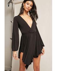 Forever 21 Black Belted Flounce Dress