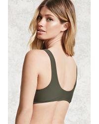 Forever 21 - Green Twist-front Bikini Top - Lyst