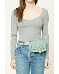 Forever 21 | Green Faux Leather Fanny Pack | Lyst