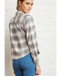 Forever 21 - Gray Boxy Check Shirt - Lyst