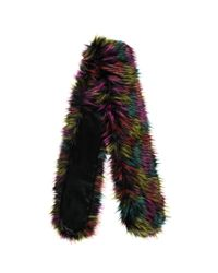 Forever 21 - Black Faux Fur Scarf - Lyst