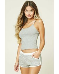 Forever 21 - Gray Ribbed Knit Pj Cami - Lyst