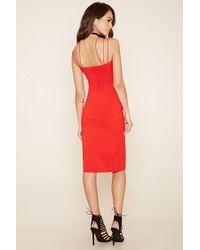 Forever 21 - Red Rare London Crisscross Dress - Lyst