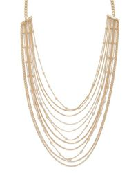 Forever 21 - Metallic Beaded Chain Layered Necklace - Lyst