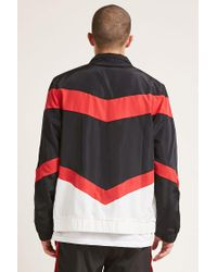 Forever 21 - Multicolor Colorblock Zip-front Windbreaker for Men - Lyst