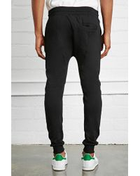 Forever 21 - Black Drop Crotch Joggers for Men - Lyst