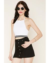 Forever 21 | White Sweater-knit Crop Top | Lyst