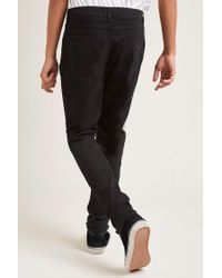 Forever 21 | Black Destroyed Straight-leg Jeans for Men | Lyst