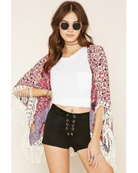 Forever 21 - Black Lace-up Faux Suede Shorts - Lyst