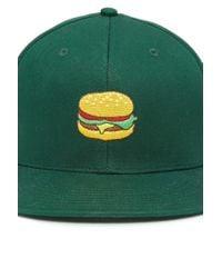 Forever 21 - Green Men Burger Snapback Hat for Men - Lyst