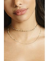 Forever 21 - Metallic Layered Rolo Choker - Lyst