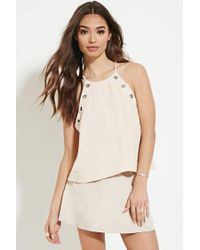 Forever 21 | Natural Grommet-front Top | Lyst