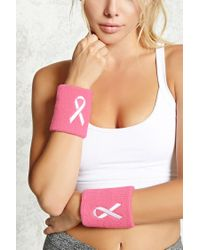 Forever 21 - Pink Breast Cancer Awareness Sweatbands - Lyst
