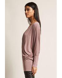Forever 21 - Purple Women's Surplice Knit Top - Lyst