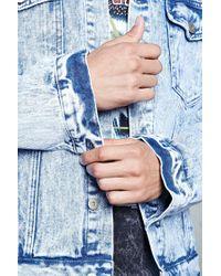 Forever 21 | Blue Acid Wash Denim Jacket for Men | Lyst