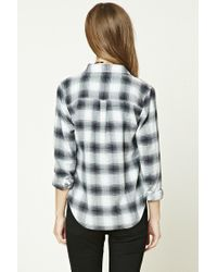 Forever 21 - Gray Buffalo Check Flannel Shirt - Lyst