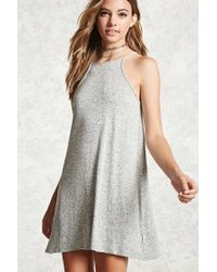 FOREVER21 - Gray Cami Swing Dress - Lyst