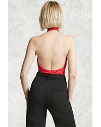 Forever 21 - Red Halter Neck Bodysuit - Lyst