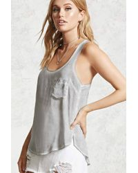 Forever 21 - Gray Mineral Wash Tank Top - Lyst