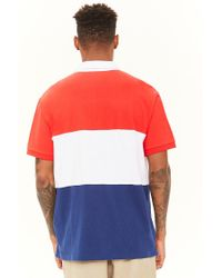 Forever 21 - Red Colorblocked Usa Polo for Men - Lyst