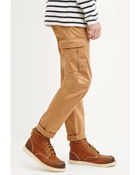 Forever 21 - Natural Cotton-blend Cargo Trousers for Men - Lyst