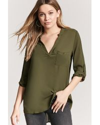 Forever 21 - Green High-low Top - Lyst