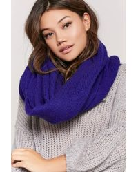 Forever 21 - Blue Oversized Knit Scarf - Lyst