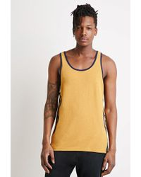 Forever 21 - Yellow Print Tank for Men - Lyst