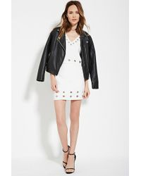 Forever 21 | White Contemporary Boxy Grommet Top | Lyst