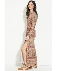 Forever 21 | Multicolor Abstract Tile Print Maxi Dress | Lyst