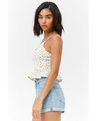 Forever 21 - White Women's Ditsy Floral Print Camisole Top - Lyst