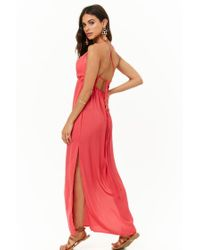 Forever 21 - Red Strappy Maxi Dress - Lyst