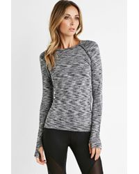 Forever 21 - Black Active Space Dye Top - Lyst