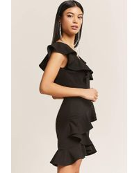 Forever 21 Black Tiered Ruffle Dress