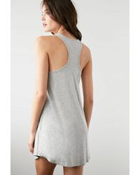 Forever 21 - Gray Taking Naps Racerback Nightdress - Lyst