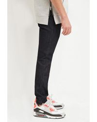 Forever 21 - Blue Drawstring Denim Joggers for Men - Lyst