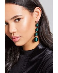 Forever 21 - Green Bauble Fabric Drop Earrings - Lyst