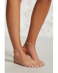 Forever 21 - Brown Iridescent Rhinestone Anklet Set - Lyst