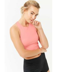 Forever 21 - Pink Active Ribbed Knit Tank Top - Lyst