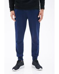 Forever 21 - Blue Heathered Drawstring Joggers for Men - Lyst