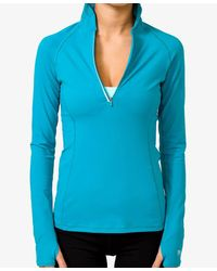 Forever 21 - Blue High Collar Running Jacket - Lyst