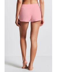 Forever 21 | Pink Fleece Knit Pj Shorts | Lyst