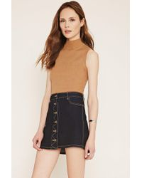 Forever 21 | Brown Contemporary Mock Neck Top | Lyst