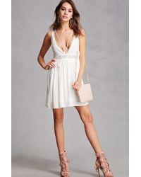 Forever 21 - White Crochet Trim Cami Dress - Lyst