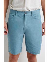 Forever 21 - Blue Cotton Canvas Shorts for Men - Lyst