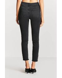 Forever 21 Black O-ring Accent Skinny Jeans
