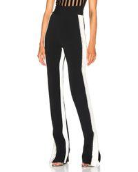 David Koma - Black Side Snap Crystal Trouser Pants - Lyst