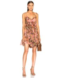 1b3d5e2368c5 Zimmermann Lovelorn Frill Mini Dress in Pink - Lyst
