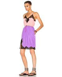 Alexander Wang - Pink V-neck Slip Dress - Lyst