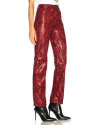 Maison Margiela - Red Faux Snakeskin Pants - Lyst
